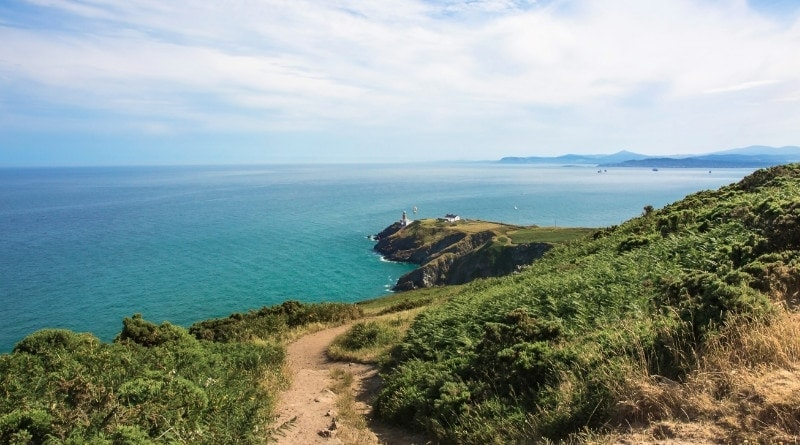 Howth Head And Lighthouse In Dublin County