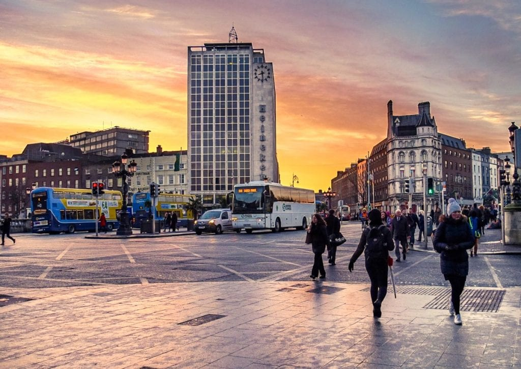 Dubliners Walking In Winter